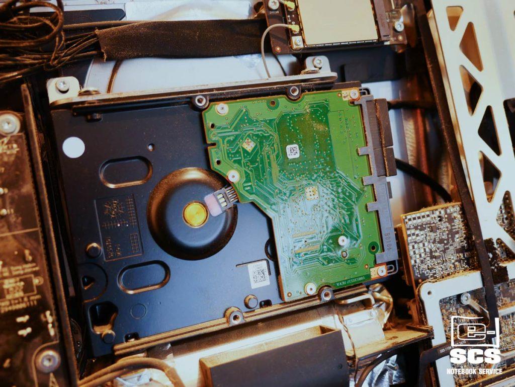 iMac wymiana dysku twardego czyszczenie układu chłodzenia