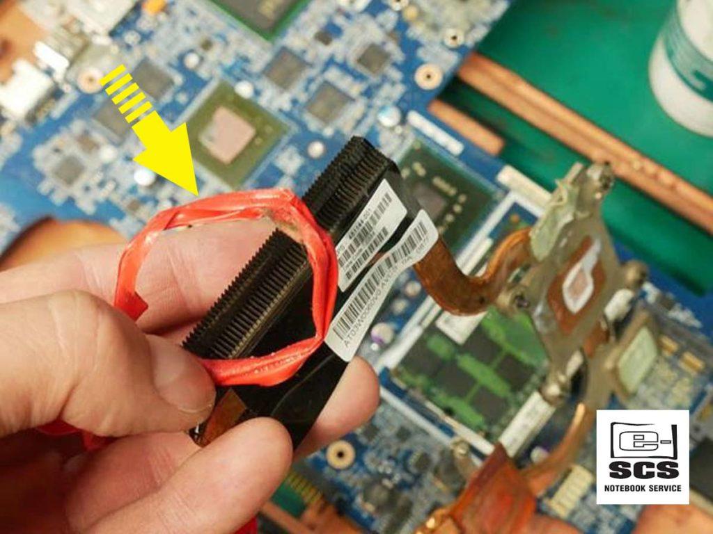 Układ chłodzenia w laptopie HP Pavilion dv7. Naprawa Czyszczenie Wymiana pasty termoprzewodzącej 3 etapy prac 1