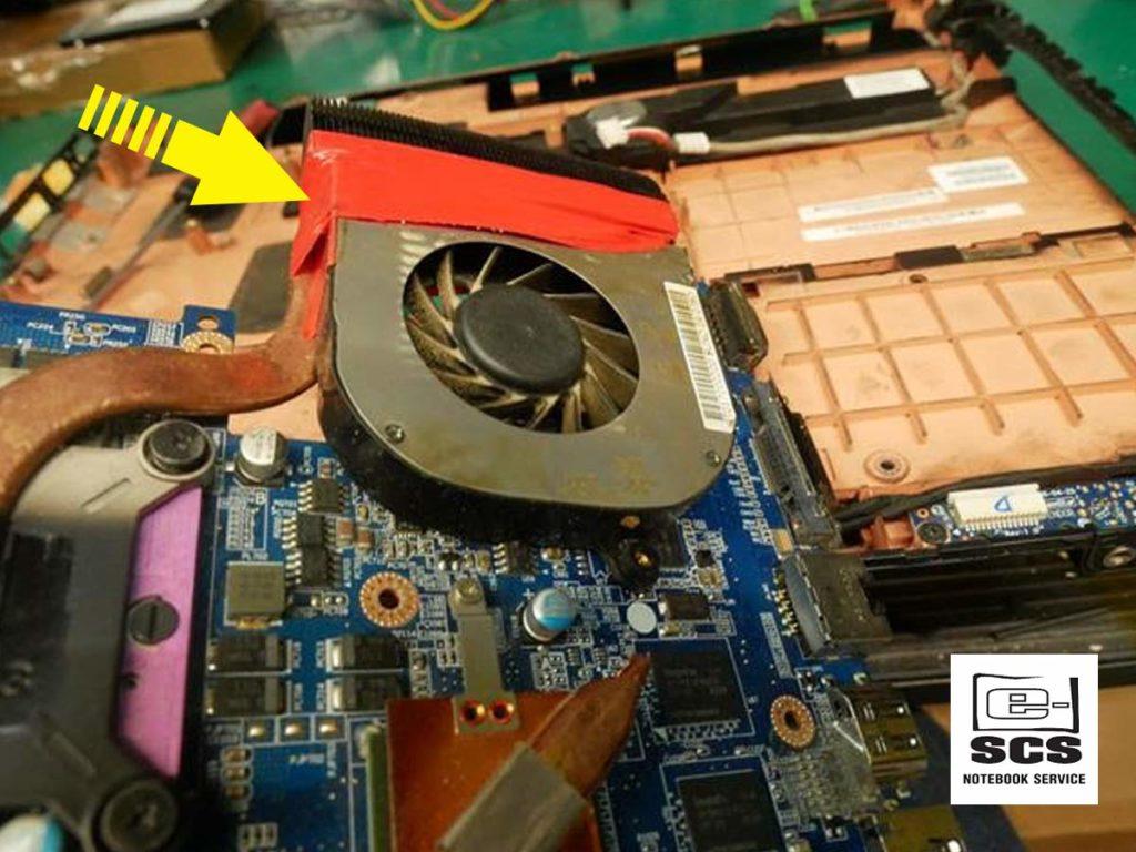 Układ chłodzenia w laptopie HP Pavilion dv7. Naprawa Czyszczenie Wymiana pasty termoprzewodzącej 3 etapy prac 3
