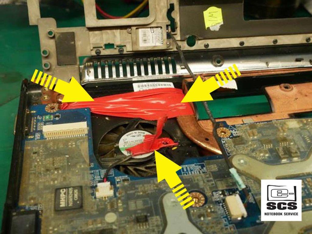 Układ chłodzenia w laptopie HP Pavilion dv7. Naprawa Czyszczenie Wymiana pasty termoprzewodzącej 3 etapy prac 4